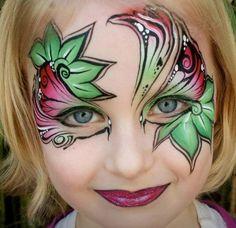 Face Paint design for girls by Jenny Saunders, Australia