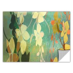 ArtApeelz 'Shadow Florals' by Jan Weiss Graphic Art Removable Wall Decal