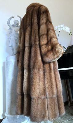 FENDI Russian Barguzin SABLE Fur Sobol Zobel Coat Pelz Mink Lynx Zibellino M  #Fendi #FurCoat