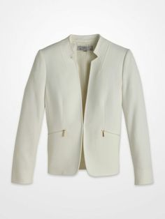 0c641f420e2db Tahari Ivory Suit Separates Jacket $69.99 #winter #white #gold #zipper  #blazer #weartowork #womens #designer #deal #fashion