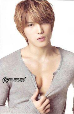 "Kim Jae Joong aka ""Mr. Perfect"" looking pretty damn near... well, you know..."