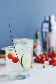Tomato Water Vodka Cocktail