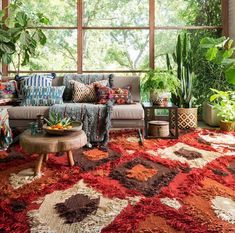 Inspirational ideas about Interior Interior Design and Home Decorating Style for Living Room Bedroom Kitchen and the entire home. Curated selection of home decor products. Interior Bohemio, Estilo Tropical, Bohemian Interior Design, Design Interiors, 70s Home Decor, Style Deco, Tropical Decor, Tropical Furniture, Bohemian Furniture