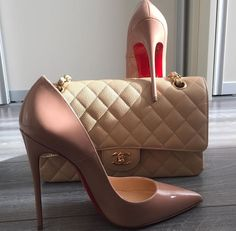 Chanel Flap Bag and Louboutin pumps