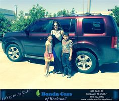 https://flic.kr/p/G3vVEW | Happy Anniversary to Edis on your #Honda #Pilot from Teal McDonald at Honda Cars of Rockwall! | deliverymaxx.com/DealerReviews.aspx?DealerCode=VSDF