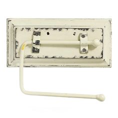 Skøn Toiletrulleholder i antik hvid