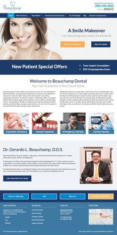 Custom website for Beauchamp Dental - dentist in Doral