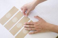 DIY: Stamped kraft paper napkin ring