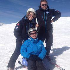 ES Adaptive with a Bi-ski hard at work in Verbier!! http://www.europeansnowsport.com/