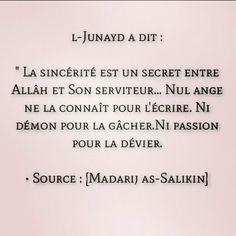 L Junayd. Hadith, Allah, Coran Islam, Islam Muslim, Islamic Quotes, Religion, Messages, Life, Quotes On Islam