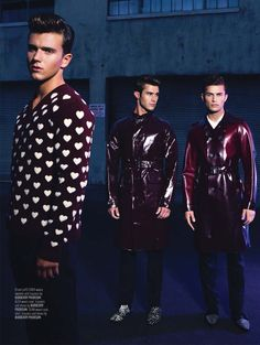 River Viiperi, Jamie Wise, and Billy Weaver Leading by Christian Rios for August Man