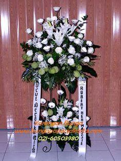 toko bunga standing flower jelambar Hanukkah, Floral Wreath, Wreaths, Jakarta, Flowers, Wedding, Decor, Valentines Day Weddings, Floral Crown
