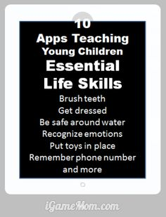 10 apps teaching young kids life skills