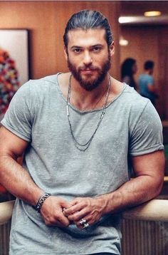 Turkish Men, Turkish Actors, Beautiful Men Faces, Gorgeous Men, Beauty And Beast Quotes, Sherman Moore, Kristen Ashley Books, Beard Boy, Photography Poses For Men