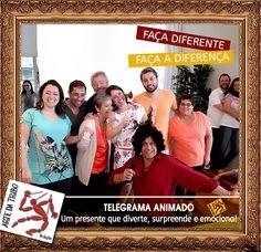 Telegrama Animado é um presente especial para alguém mais que especial.  Faça diferente, faça a diferença: Dê Telegrama Animado!  #telegramaanimado #artedatribo