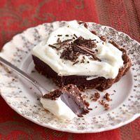 Bittersweet Truffle Tart with Whipped Almond Mascarpone Recipe
