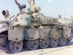 Captured Iraqi Type 69-II tank Gulf War 1991.