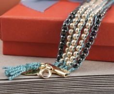 DIY chic beaded bracelet.