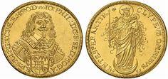 German States/Wurzburg/ Bishopric AV 5 Dukaten 1652 Nurnberg Mint Johann Philipp Von Schonberg 1642-73 Bishop of Wurzburg/Mainz