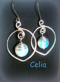 filo d'argento e pietra di luna- wirework