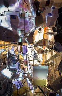 pin by susan on sarah sze futurism infinitely varied projections descend upon the rose art museum