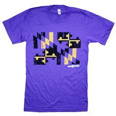 Baltimore Purple & Gold Maryland Flag / Shirt