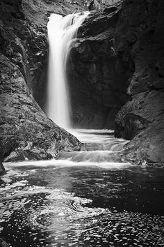Waterfall Black and White by je photodesign, via Flickr