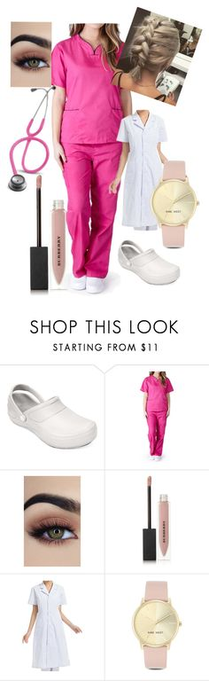 """""""Stephanie Yang"""" by severussnapebae ❤ liked on Polyvore featuring Crocs, Burberry, 3M and Nine West"""