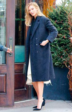 Karlie Kloss-----------À l'entrée du restaurant Locanda Verde à New York le 14 janvier 2016.