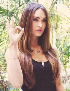 Image via We Heart It #blueeyes #brunette #hairstyle #meganfox