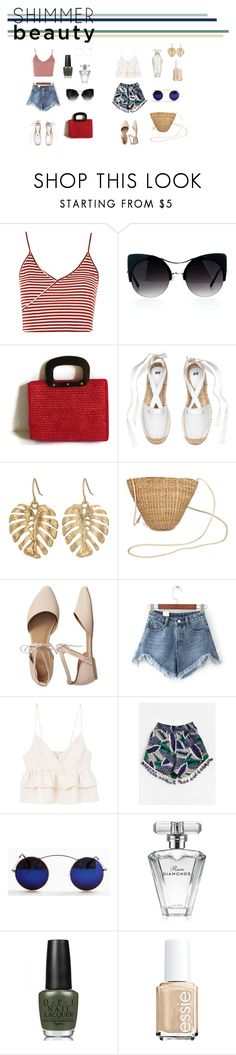 """""""summer look"""" by haylee0110 on Polyvore featuring Topshop, The Sak, Gap, WithChic, MANGO, Avon, OPI and Victoria's Secret"""