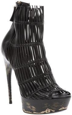 Alexander McQueen ~ Cut Out Ankle Boot