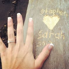 Very cute engagement ring photo! Thank you Sarah Crail :)