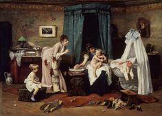 Václav Brožík (Czech artist, Childrens' Toilette Vaclav Brozik was born into a poor family of 7 children, which moved to t. Academic Art, Tea Art, Victorian Art, Art Studies, Mother And Child, Ferdinand, Paris, Salvador, Art For Kids