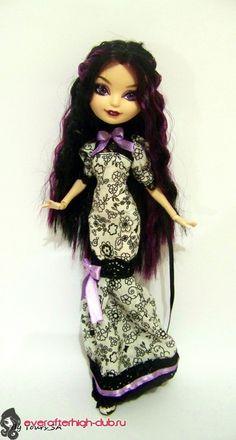 Платье с чёрными кружевами для Рейвен - Ever After High Club  EAH dress pattern