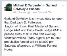 Sad news...
