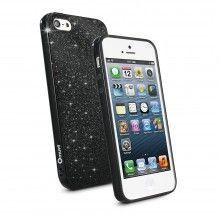 Housse iPhone 5 Muvit - Minigel Fina Glitter Noir avec Film Protection  13,99 €