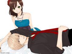 Render Animes et Manga - Renders Wolf Girl and Black Prince Sata Kyouya Erika Couple Fille Garcon