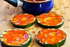 Grilled Zucchini Pizza Slices (Low-Carb, Gluten-Free) | Kalyn's Kitchen®