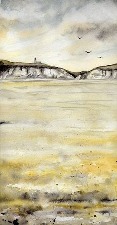 White cliff of Dover by Sandra Ovono Art & Illustration, via Flickr