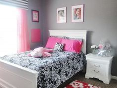 Idea for Hailey's room...it's girly in a big girl/rock star way.