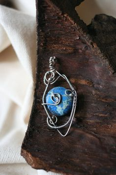 Eye of the Earth Pendant  I offer you this handmade pendant made of silver and royal jasper.  You will receive this pendant in a handmade box. Would