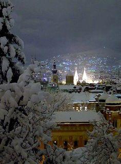 Sarajevo at winter night, Bosnia and Herzegovina | Mirza Trozic's photos