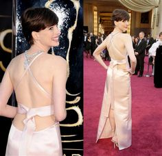 Fashion hits and misses: The 2013 Oscars..Anne Hathaway