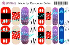 Disney inspired Jamberry nail wraps.  Design your own in our nail studio: http://www.kimd.jamberrynails.net/nas/