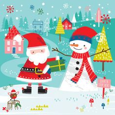 Sophie Webber - Sophie Webber Christmas Santa Snowman Card