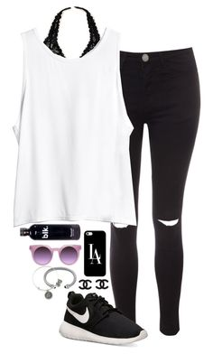 """blk."" by i-am-bryana ❤ liked on Polyvore"