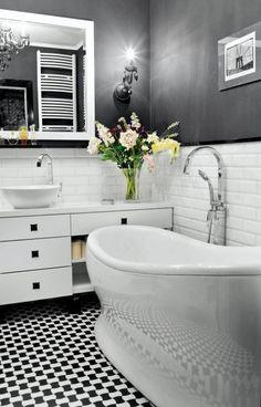 MIESZKANIE. Łazienka jest moją dumą. Wszystko jest tu czarno-białe, również…