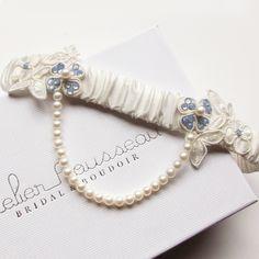 #somethingblue #wedding #garter #bridal #gift #lingerie