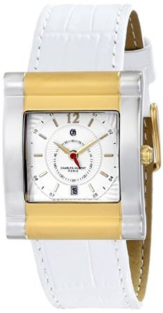 Women's Wrist Watches - CharlesHubert Paris Womens 6841T Premium Collection Analog Display Japanese Quartz White Watch ** Find out more about the great product at the image link.